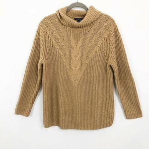 Land's End Sweater Chevron Roll Neck